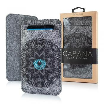 CABANA SLIM UP FILZBEUTEL FILZ HANDYTASCHE BLUE EYE FÜR SMARTPHONE iPHONE
