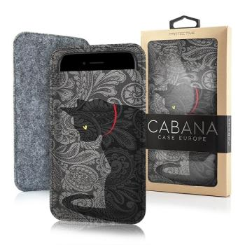 CABANA SLIM UP FILZBEUTEL FILZ HANDYTASCHE BLACK CAT FÜR SMARTPHONE iPHONE