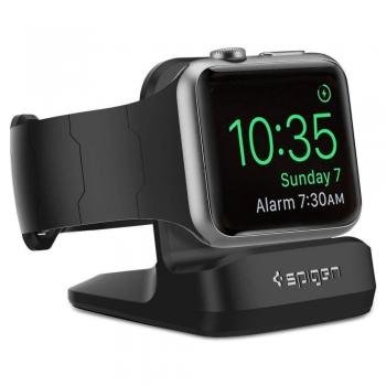 Spigen S350 Nachttisch Lade Dockingstation für Apple Watch 1/2/3/4/5/6 schwarz