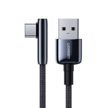 Ugreen USB-USB TypC Ladekabel mit L-Form Stecker 5 A Quick Charge 3.0 AFC FCP
